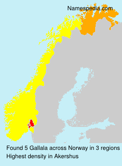 Surname Gallala in Norway