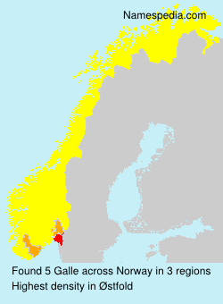 Surname Galle in Norway