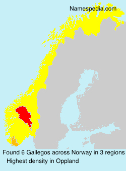 Surname Gallegos in Norway