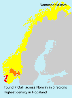 Surname Galli in Norway
