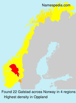 Surname Galstad in Norway