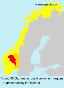 Surname Gamme in Norway