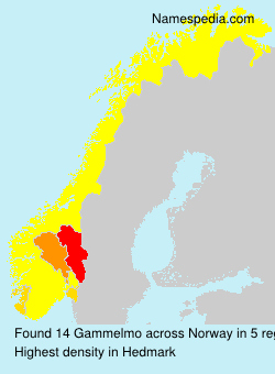 Surname Gammelmo in Norway