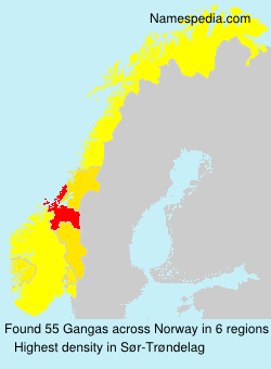 Surname Gangas in Norway
