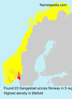 Surname Gangestad in Norway