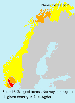 Surname Gangsei in Norway