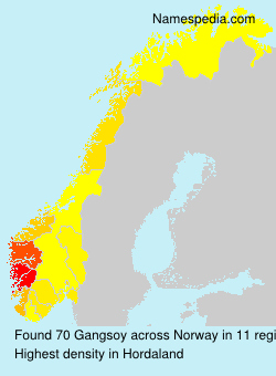 Surname Gangsoy in Norway