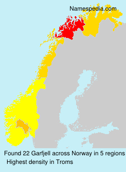 Surname Garfjell in Norway