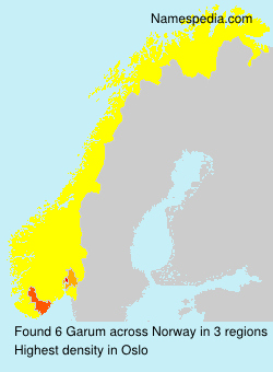 Surname Garum in Norway