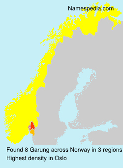 Surname Garung in Norway