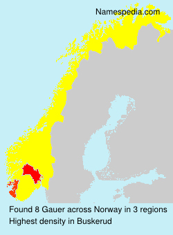 Surname Gauer in Norway