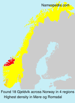 Surname Gjeldvik in Norway