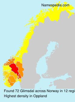 Surname Glimsdal in Norway