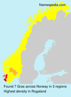 Surname Gras in Norway