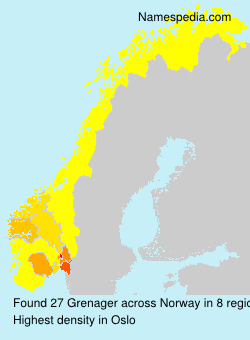 Surname Grenager in Norway