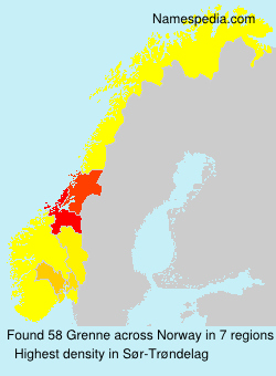 Surname Grenne in Norway