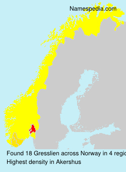 Surname Gresslien in Norway