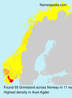 Surname Grimsland in Norway