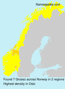 Surname Grosso in Norway