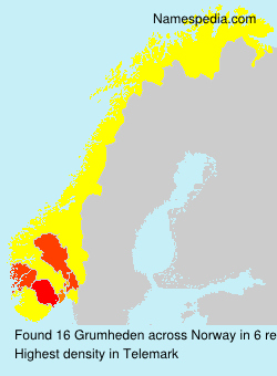 Surname Grumheden in Norway
