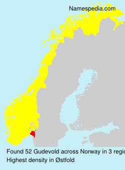 Surname Gudevold in Norway
