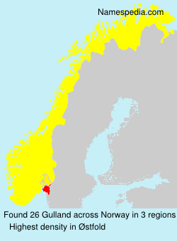 Surname Gulland in Norway