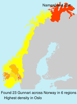 Surname Gunnari in Norway