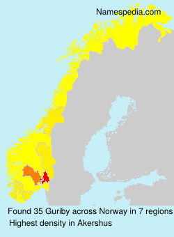 Surname Guriby in Norway