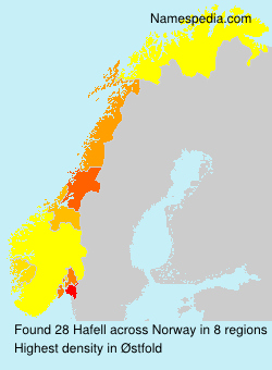 Surname Hafell in Norway