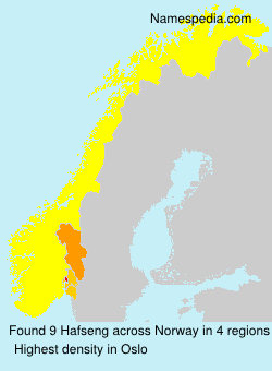 Surname Hafseng in Norway