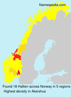 Surname Hallien in Norway
