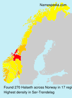 Surname Halseth in Norway