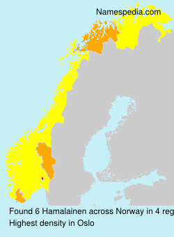 Surname Hamalainen in Norway