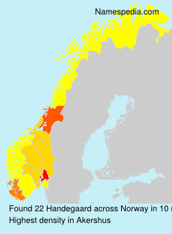 Surname Handegaard in Norway