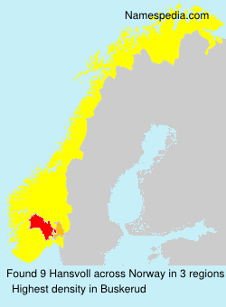 Surname Hansvoll in Norway