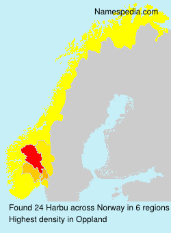 Surname Harbu in Norway
