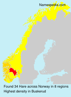 Surname Hare in Norway