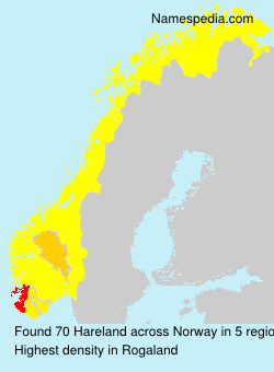 Surname Hareland in Norway