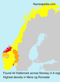 Surname Hatlemark in Norway