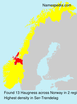 Surname Haugness in Norway