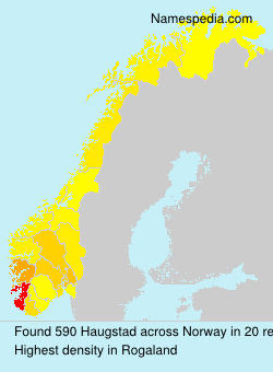 Surname Haugstad in Norway