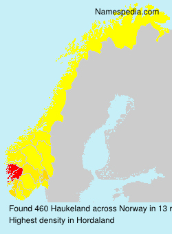 Surname Haukeland in Norway