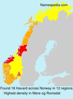 Surname Havard in Norway