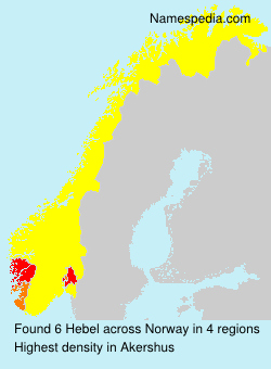 Surname Hebel in Norway