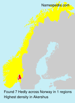 Surname Hedly in Norway