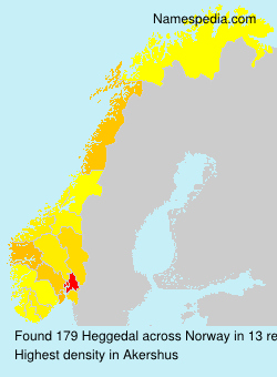 Surname Heggedal in Norway