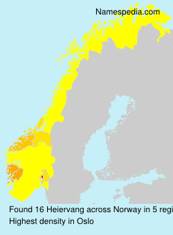 Surname Heiervang in Norway