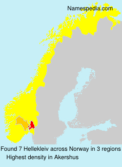 Surname Hellekleiv in Norway