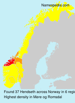 Surname Hendseth in Norway
