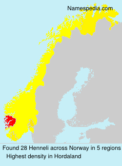 Surname Henneli in Norway